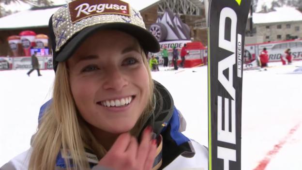 Video «Ski: Gut nach ihrem Kombisieg im Interview» abspielen