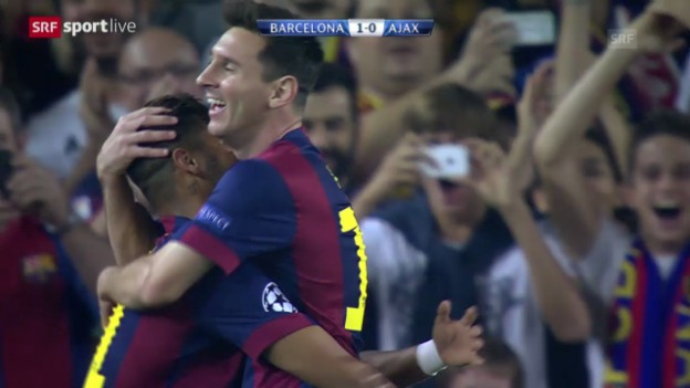 Video «Fussball: Champions League, FC Barcelona - Ajax Amsterdam» abspielen