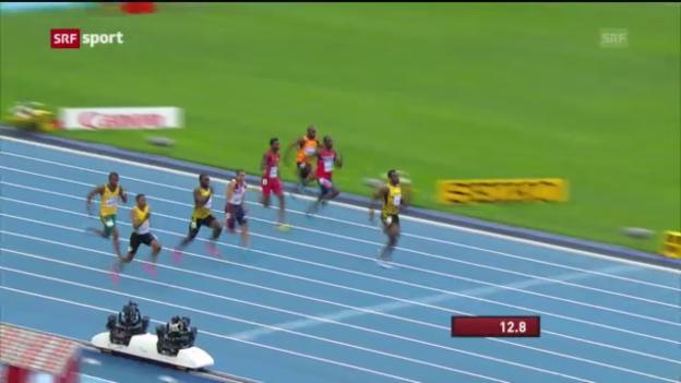 Video «Bolt ist Weltmeister über 200 m («sportaktuell»)» abspielen