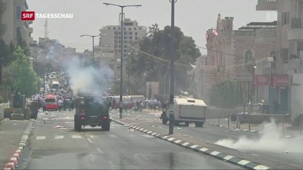 Video «Krawalle zum Freitagsgebet in Jerusalem» abspielen