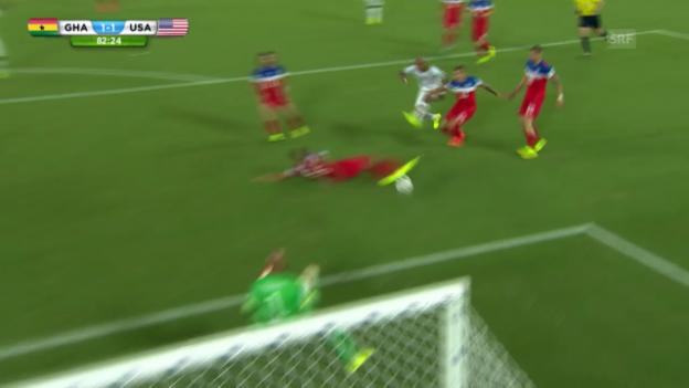 Video «Andre Ayews Tor zum 1:1 gegen die USA» abspielen