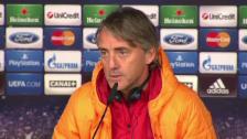 Video «Mancini über Ancelotti: «Carlo ist ein guter Mann»» abspielen