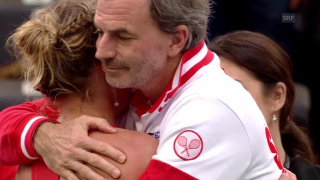 Video «Bacsinszky verliert ihr Einzel gegen Beck» abspielen