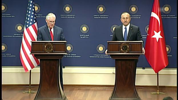 Video «Tillerson: Drei gemeinsame Ziele mit der Türkei» abspielen