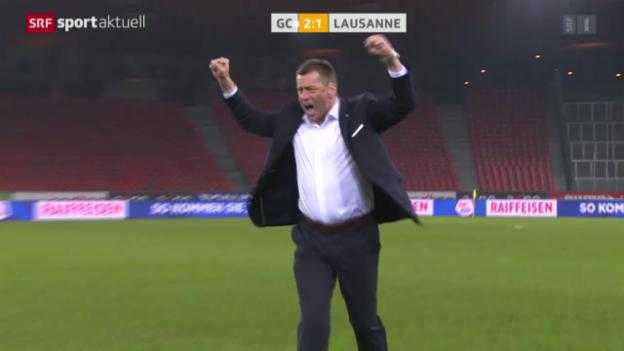 Video «Fussball: Super League, GC - Lausanne» abspielen