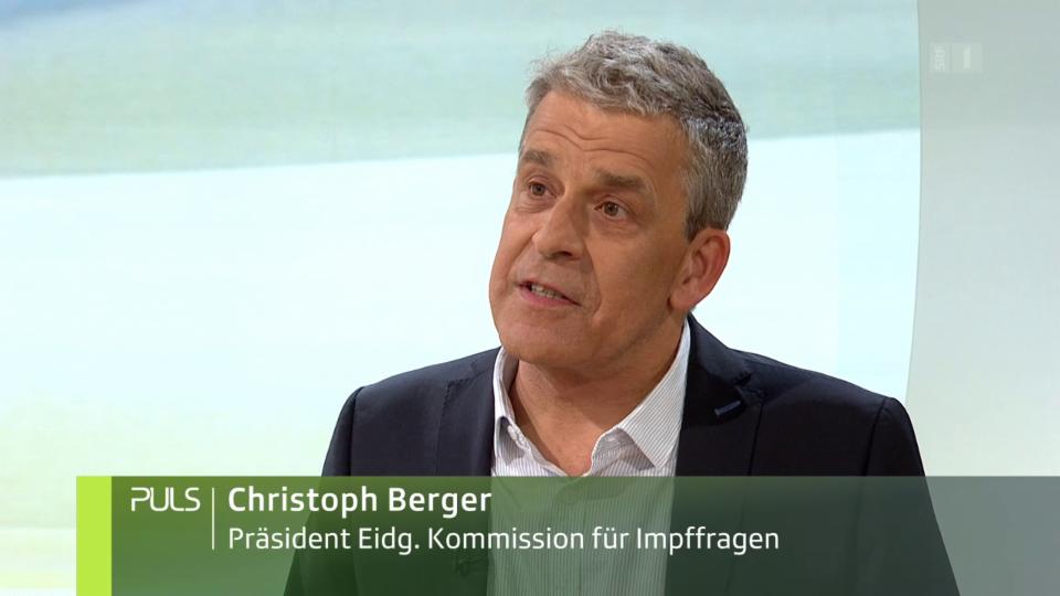 Studiogespräch zum Thema «Masern-Impfung» mit Christoph Berger.
