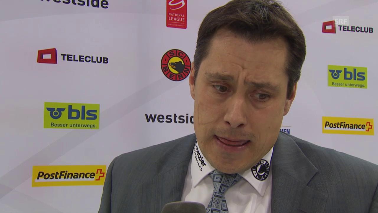 Eishockey: 3. Playoff-Halbfinal Bern - Davos, Guy Boucher im Interview