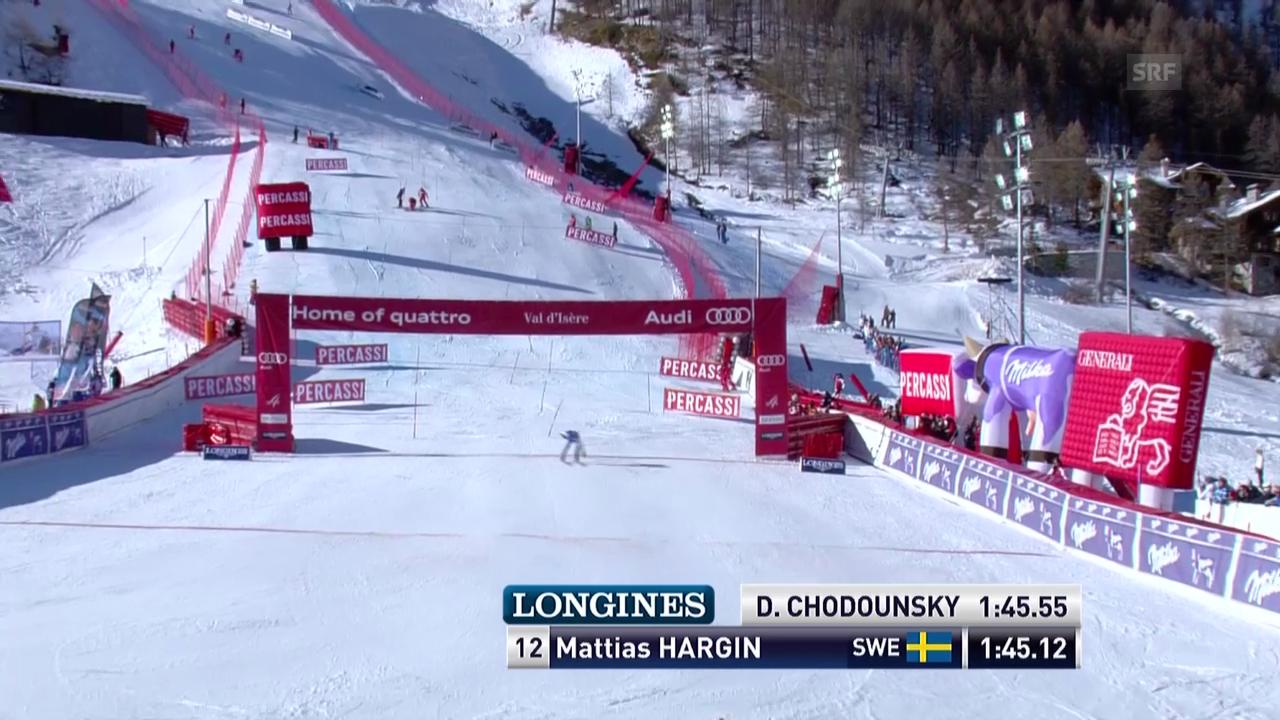 Ski alpin: Slalom Männer Val d'Isère, 2. Lauf Mattias Hargin («sportlive», 15.12.2013)