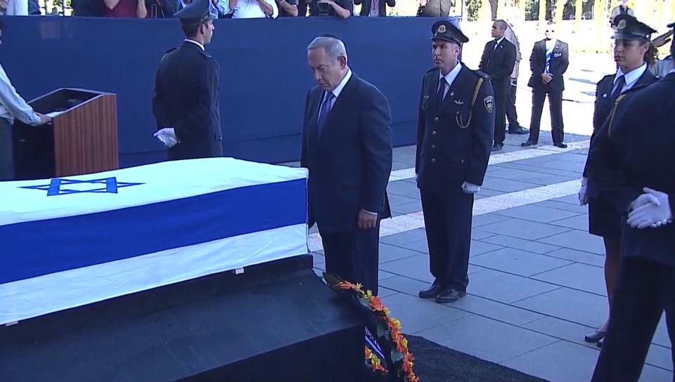 Netanjahu und Clinton nehmen Abschied von Peres