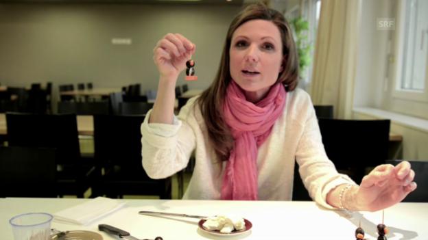 Video «Viola will's wissen - Fingerfood-Pinguine herstellen» abspielen