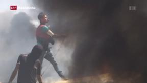 Video «US-Botschaft in Jerusalem: Ausschreitungen und Rückblick» abspielen