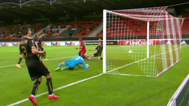 Video «Fussball: Europa League, Livehighlights Sion - Rubin Kasan» abspielen