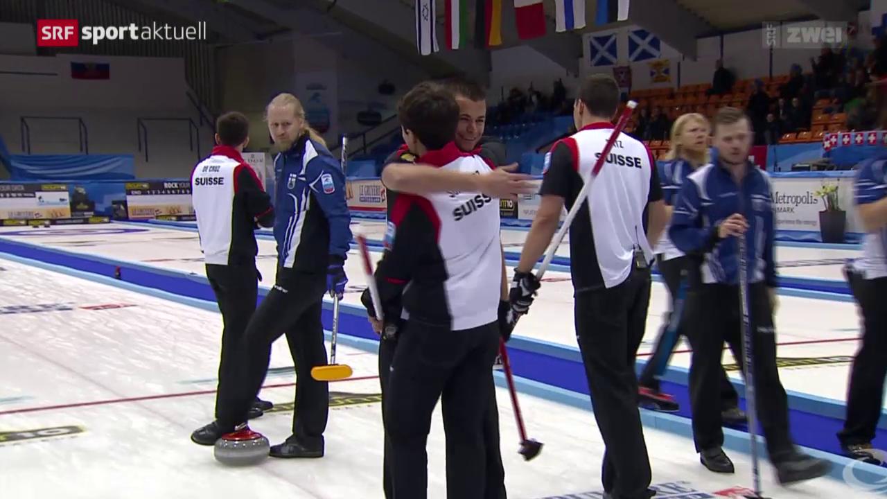 Curling: EM-Halbfinal, Schweiz - Finnland
