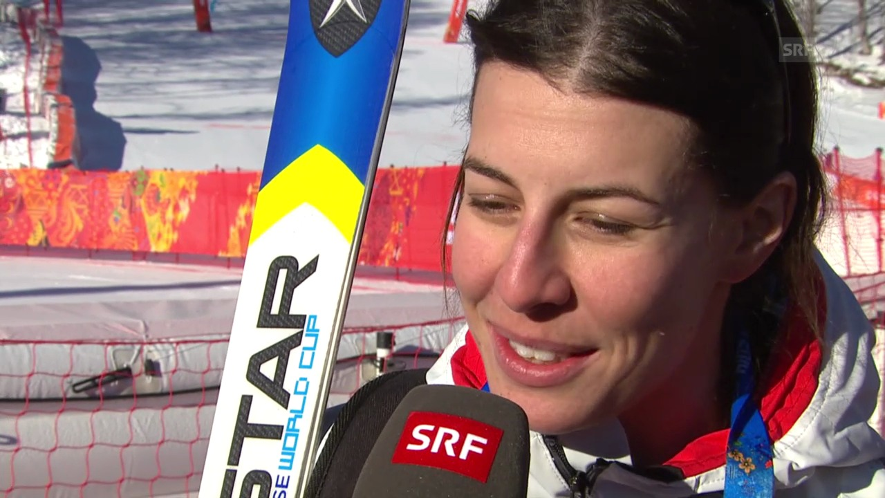 Dominique Gisin im Interview (sotschi direkt, 08.02.2014)