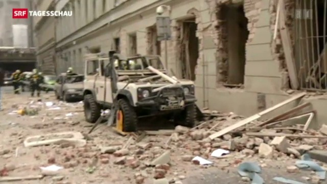 Gasexplosion in Prag