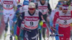 Video «Skandinavische Dominanz beim Langlauf-Weltcup in Falun» abspielen