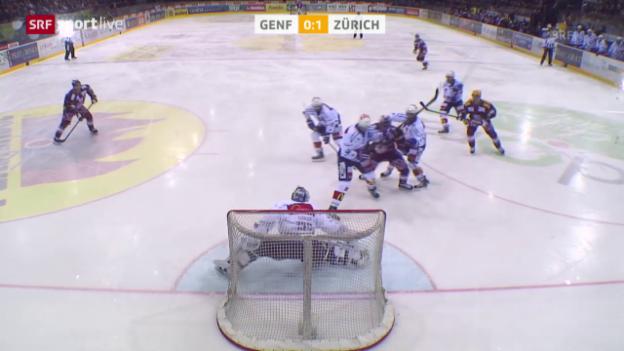 Video «Eishockey: Playoff-Halbfinals, Genf - ZSC Lions» abspielen