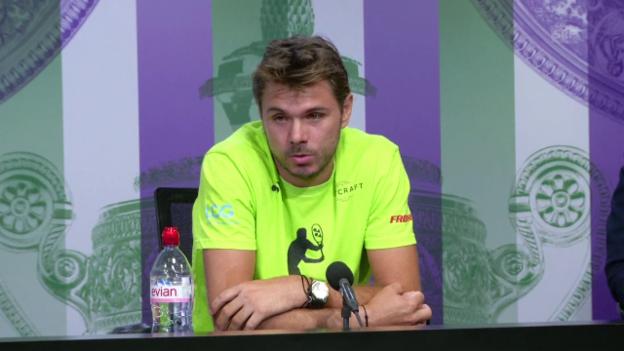Video «Stan Wawrinka über sein erstes Wimbledon-Spiel» abspielen