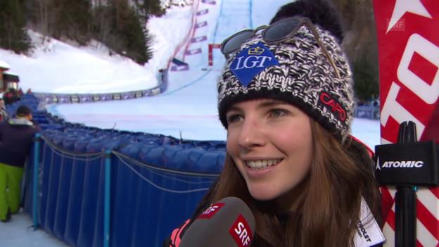 Video «Weirather über ihren Sieg in La Thuile» abspielen