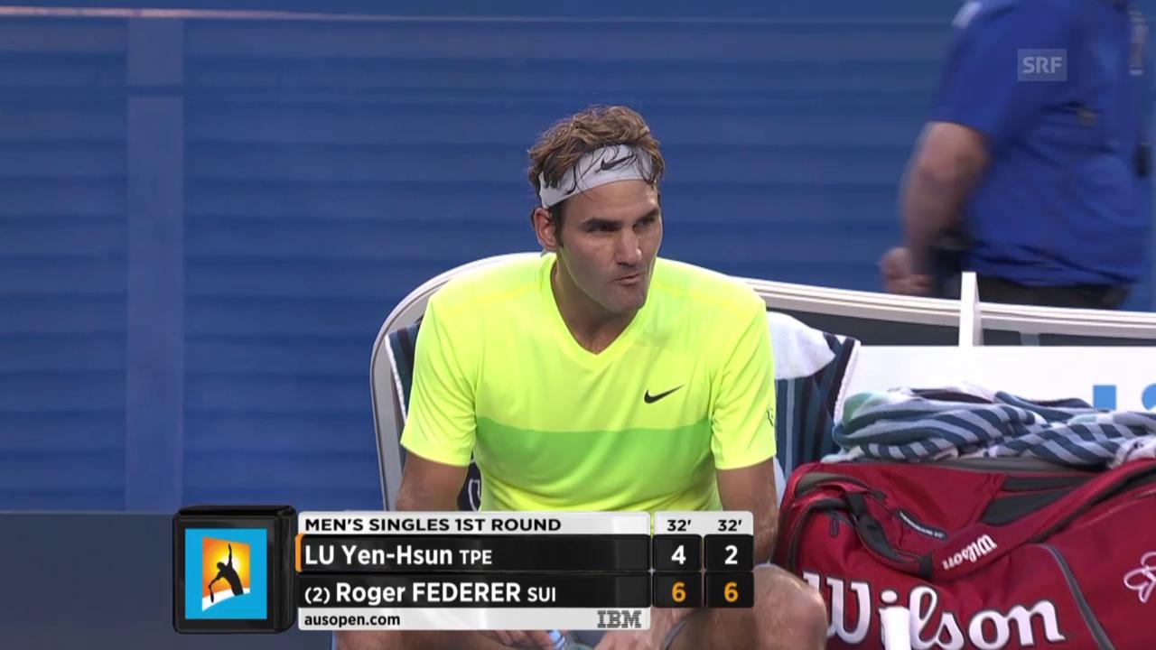 Der zweite Satz geht an Federer