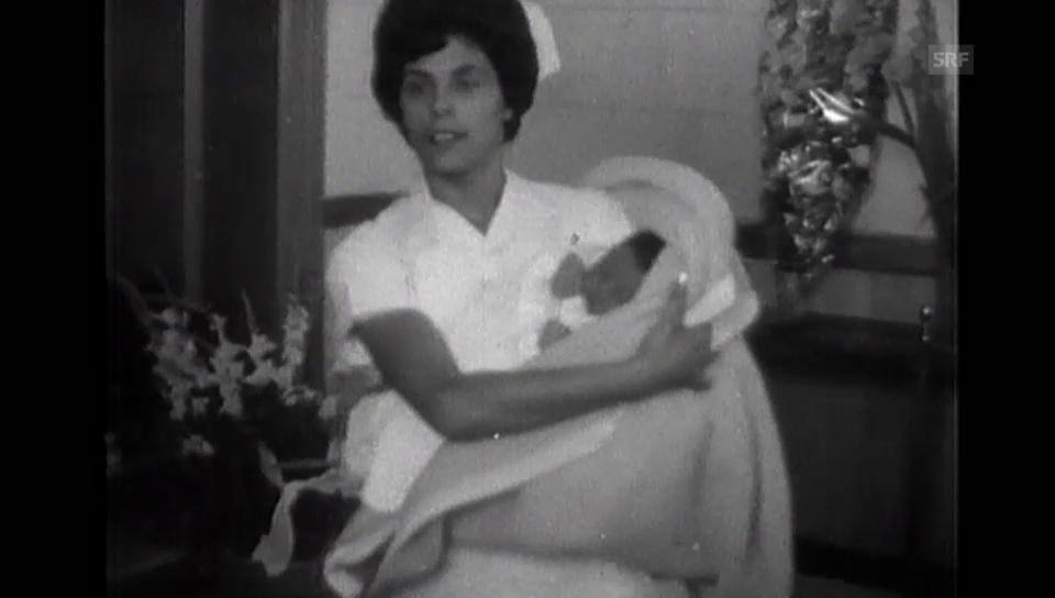 Geburt vom künftigen König Abdullah (1962) (ohne Ton)