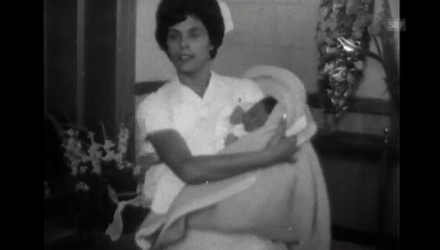 Video «Geburt vom künftigen König Abdullah (1962) (ohne Ton)» abspielen