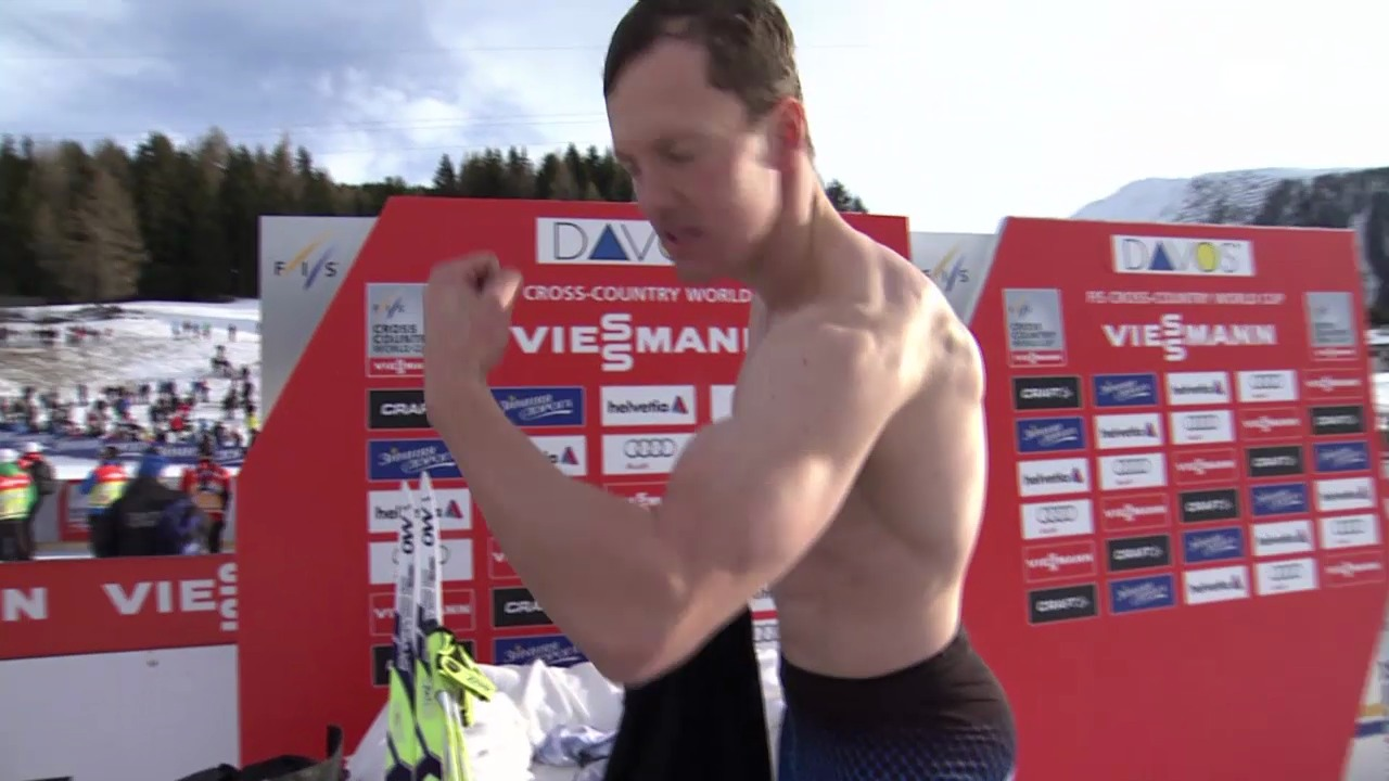 Langlauf: Weltcup Davos, 15 km, Einlauf Jauhojärvi