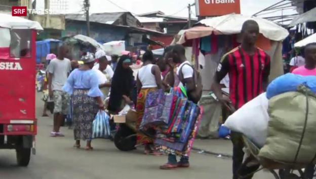 Video «Aufbau nach Ebola-Seuche» abspielen