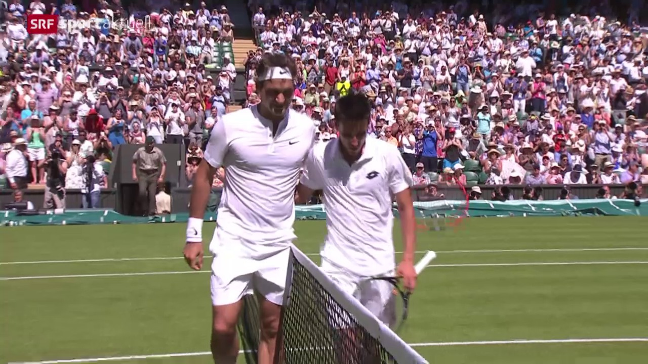 Tennis: Wimbledon, Federer - Dzumhur
