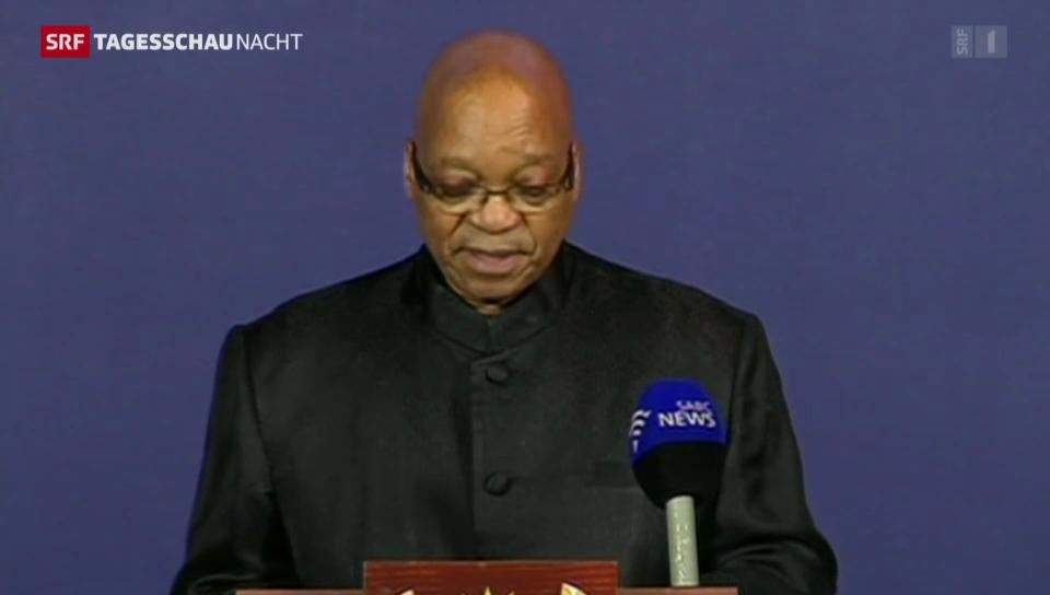 Zuma verkündet Tod Mandelas