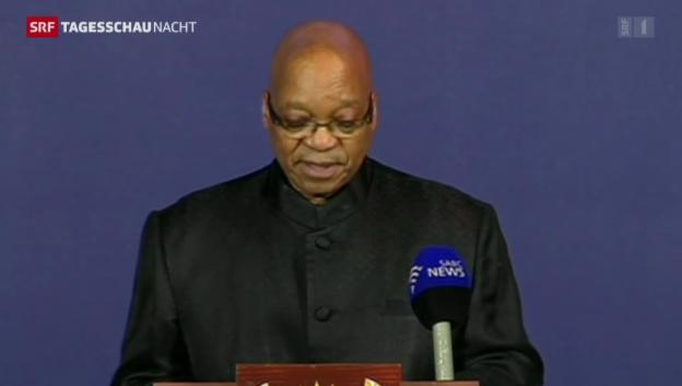 Video «Zuma verkündet Tod Mandelas» abspielen
