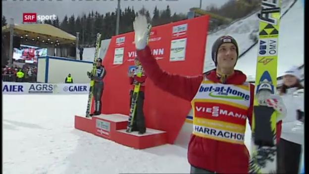 Video «Skispringen: Weltcup in Harrachov («sportpanorama»)» abspielen