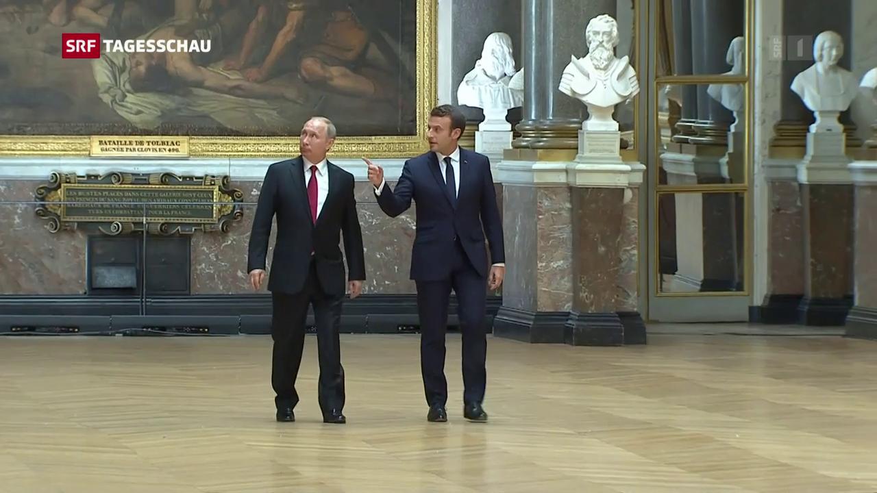 Putin in Versailles empfangen