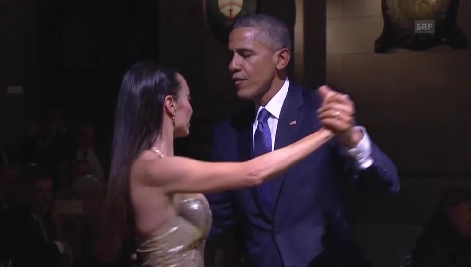 Charmeoffensive: Obama tanzt Tango.