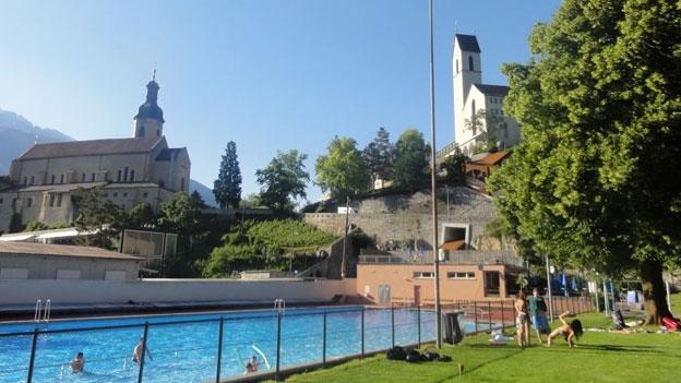 Historische Badi in Chur.