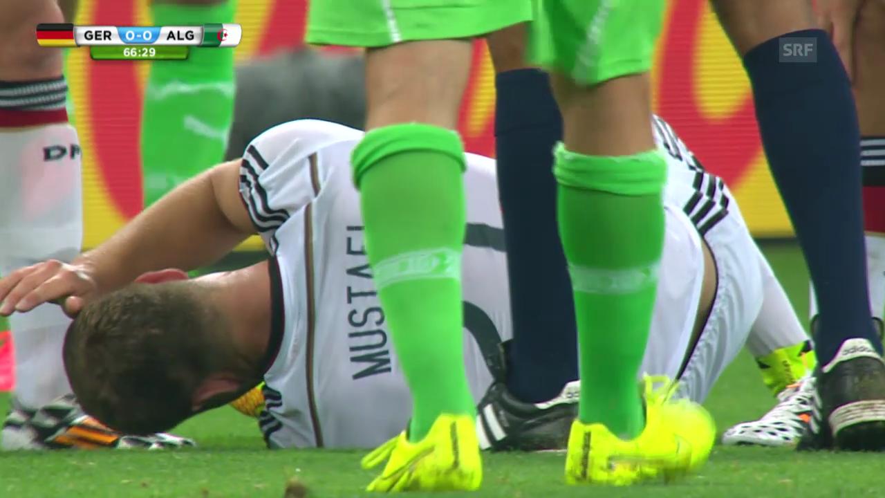 Mustafis schmerzhafter Ausfall