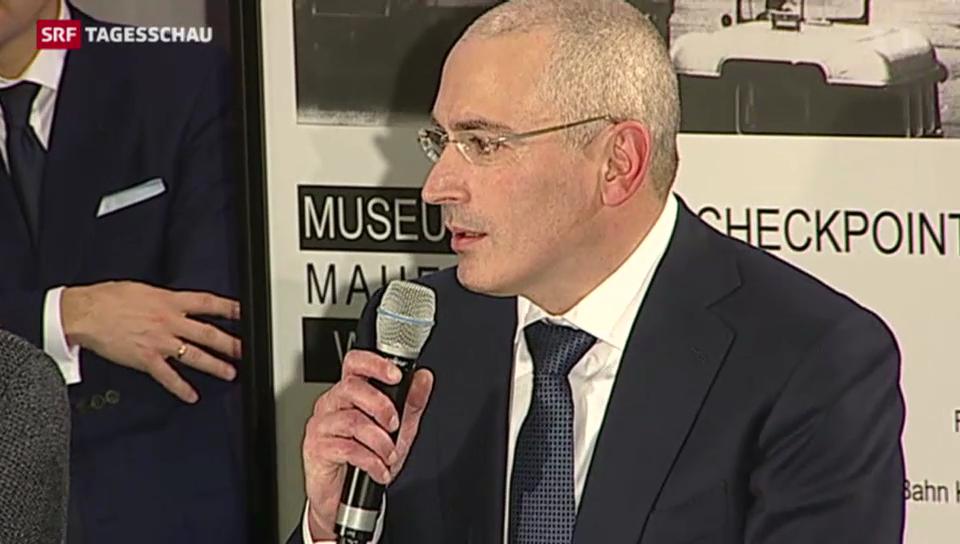 Chodorkowski stellt sich den Medien