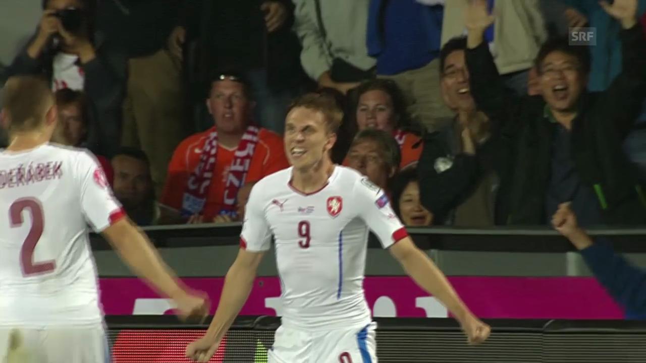 Fussball: EURO-Qualifikation, Tschechien - Niederlande, 1:0 durch Borek Dockal