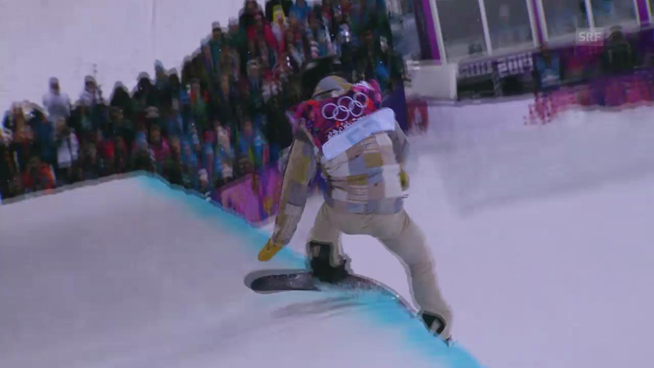 Snowboard Halfpipe: 1. Final-Run von Shaun White (sotschi direkt, 11.02.2014)