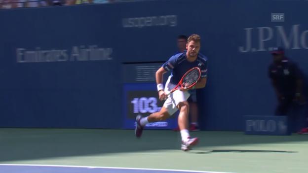 Video «Tennis: US Open, Zusammenfassung Wawrinka - Young» abspielen