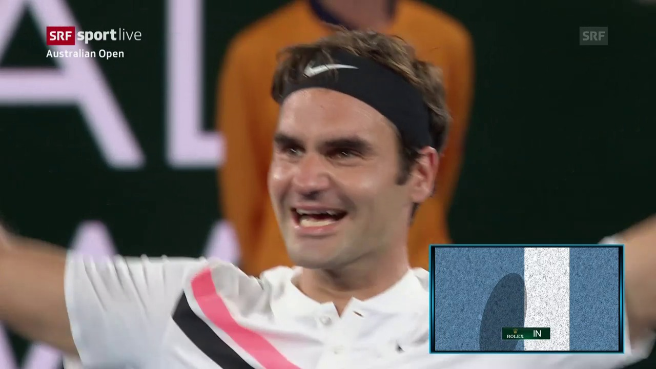 Die Livehighlights bei Federer - Cilic