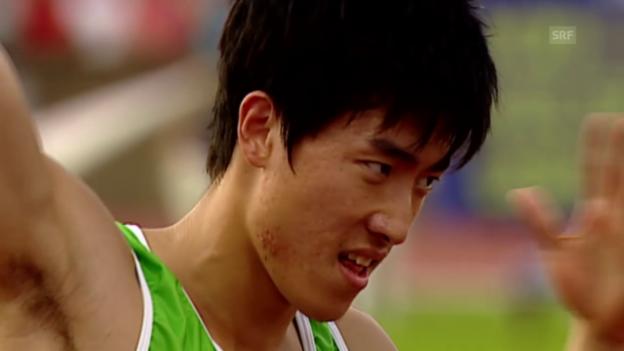 Video «Leichtathletik: Lius Weltrekord in Lausanne» abspielen