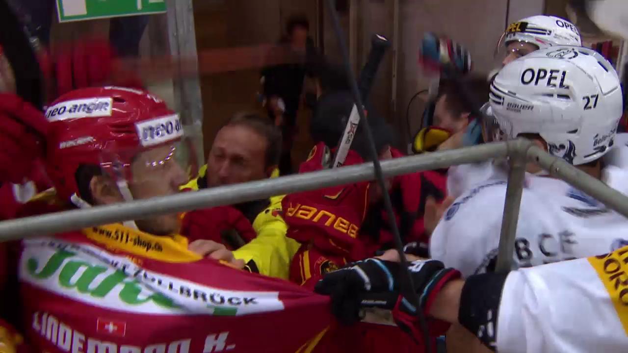 Eishockey: Wüste Szenen im Spiel zwischen Langnau und Freiburg («sportpanorama»)