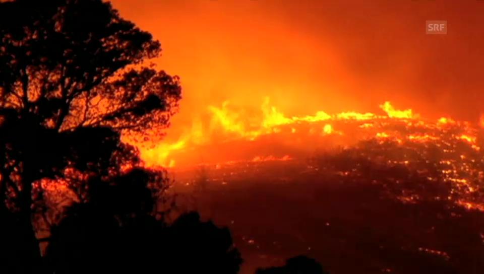 Waldbrand bei Alicante