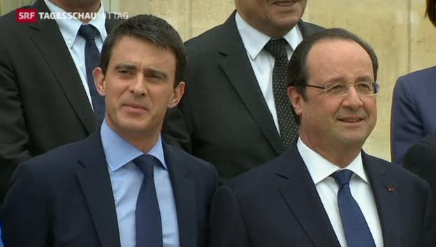 Video «Valls bietet Rücktritt an» abspielen