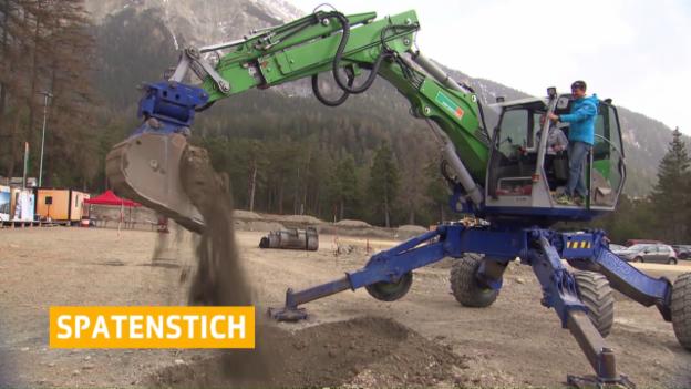 Video «Biathlon: Spatenstich in Lenzerheide» abspielen