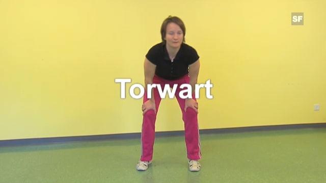 Arlette Ronge, Physiotherapeutin an der Hochgebirgsklinik Davos, zeigt fünf Stellungen zur Entlastung der Atemmuskulatur