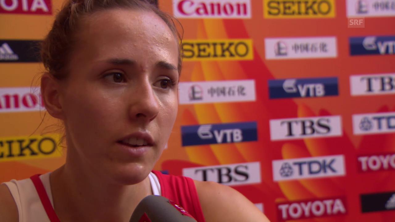 LA: WM in Peking, 800 m Vorlauf, Interview mit Selina Büchel