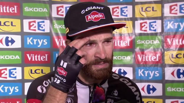 Video «Rad: TdF, 17. Etappe, Interview Geschke» abspielen