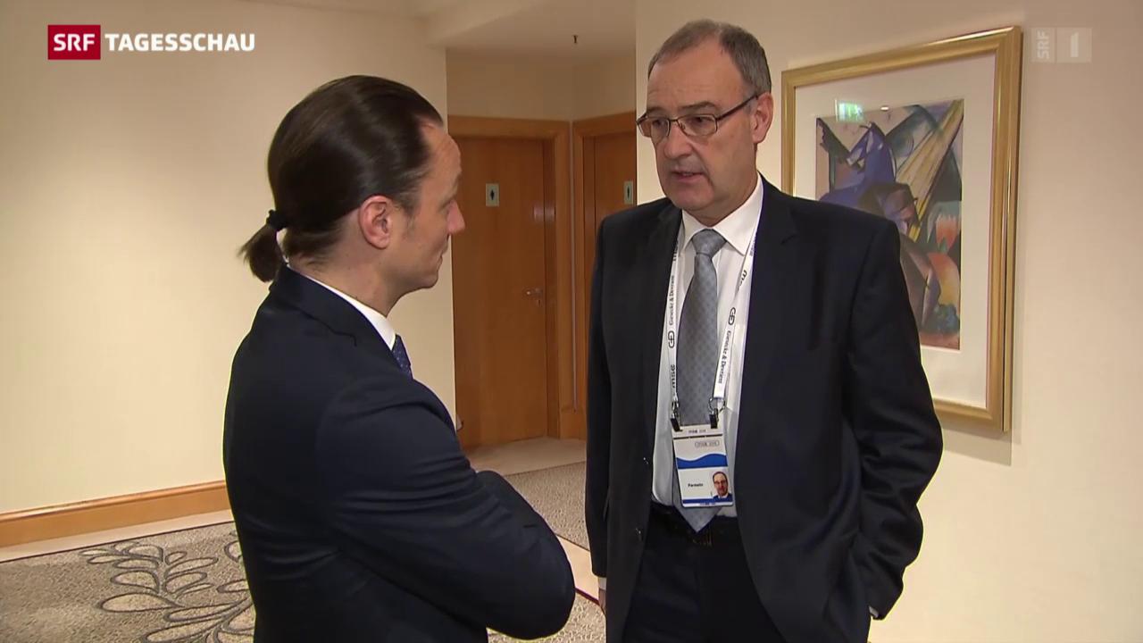 Parmelins erste Auslandsreise als Bundesrat
